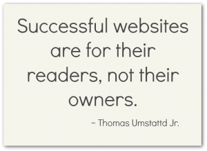 Successful Websites are for their readers